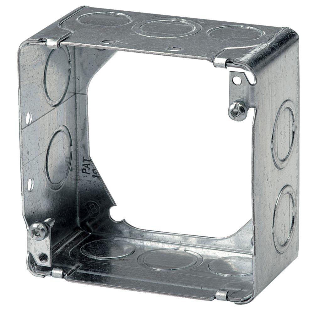 Rallonge 2-1/8 po de prof. pour boîte carrée de 4 po