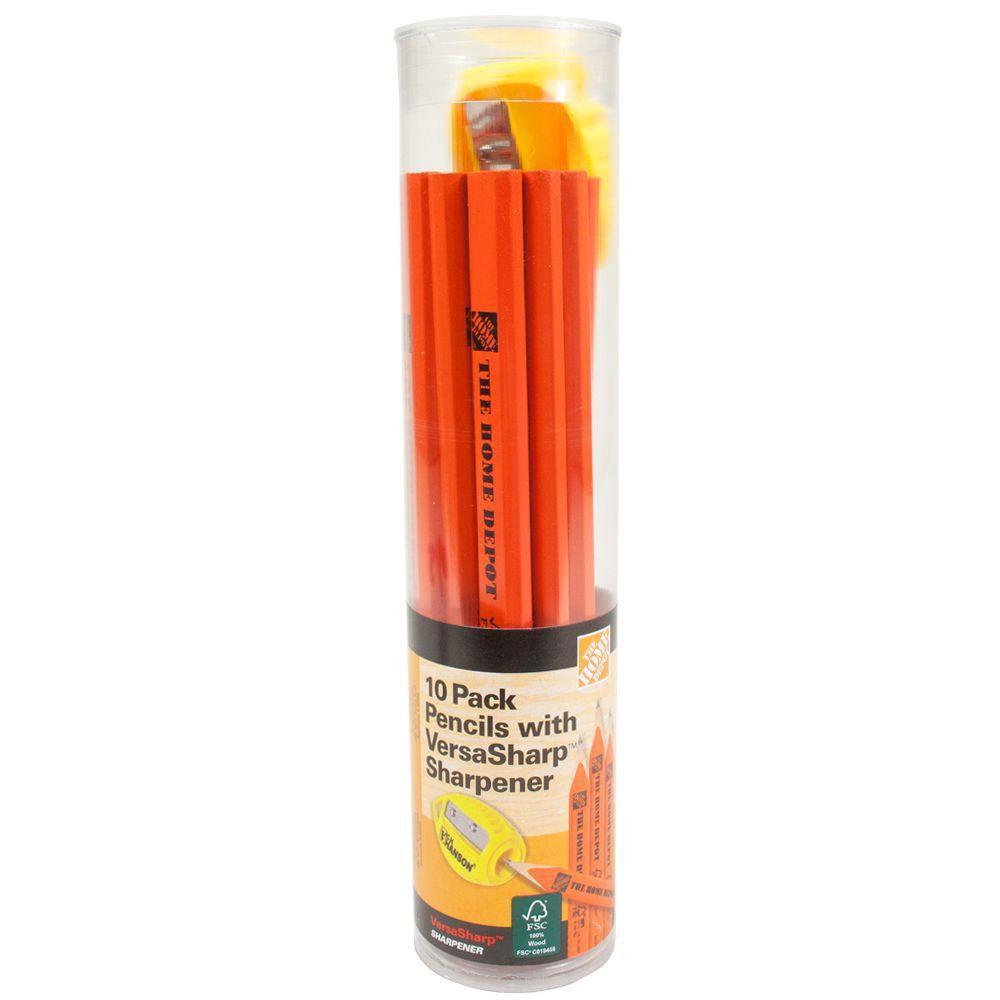 10 pk Carpenter Pencil and sharpener