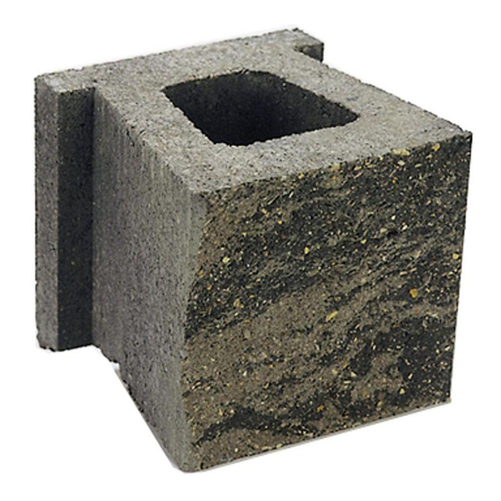 Cindercrete Junior Grey/Charcoal Wall Block