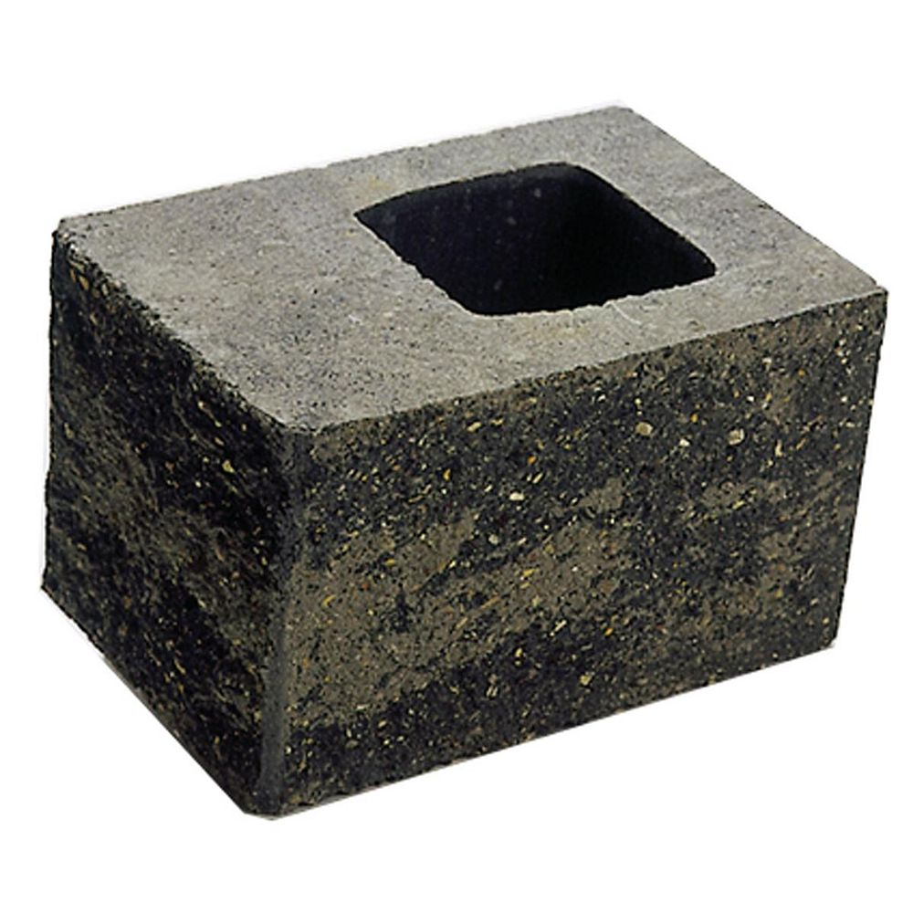 Cindercrete Junior Grey/Charcoal Corner Wall Block