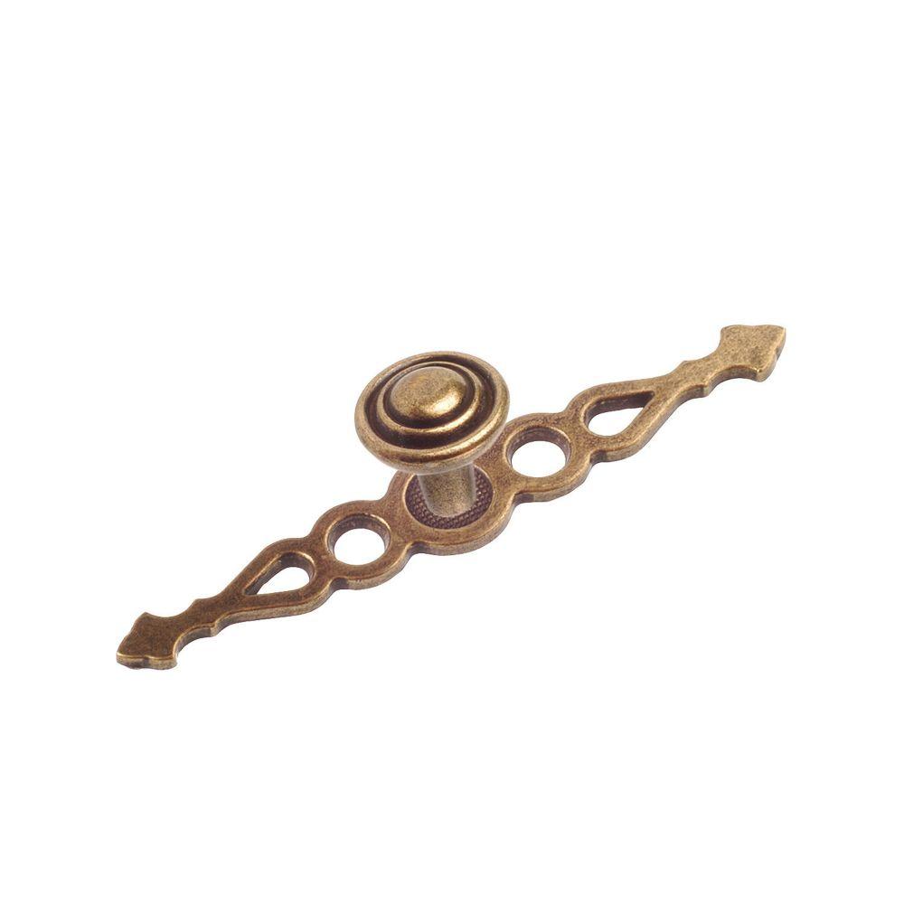 Classic Metal Knob - Burnished Brass - 25 mm Dia.