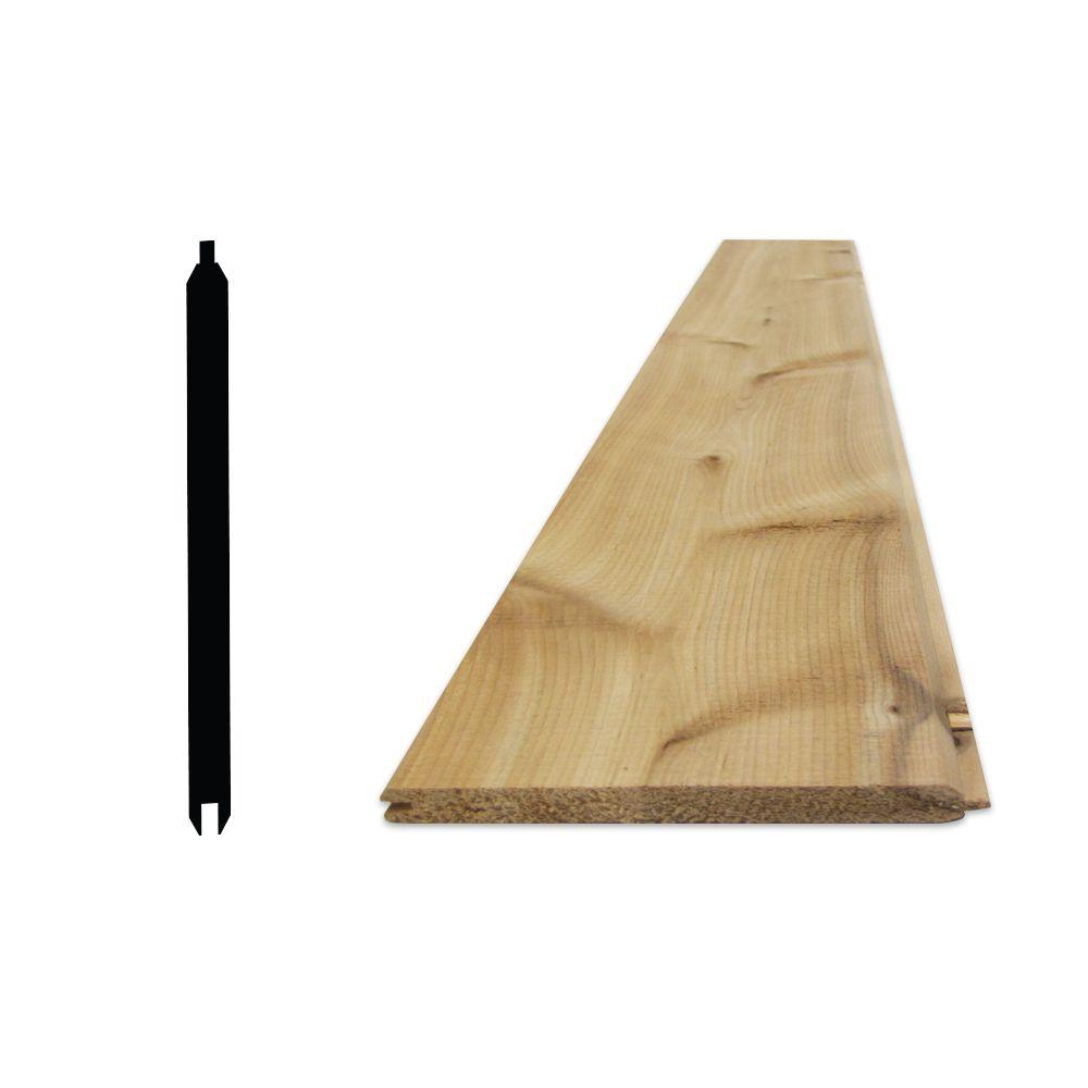"""Lambris cèdre 8 pi (1x6) v-joint avec rainure et languette - 11/16"""" x 6"""""""