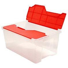 Mini Flip Tote Red/Clear, 26 L