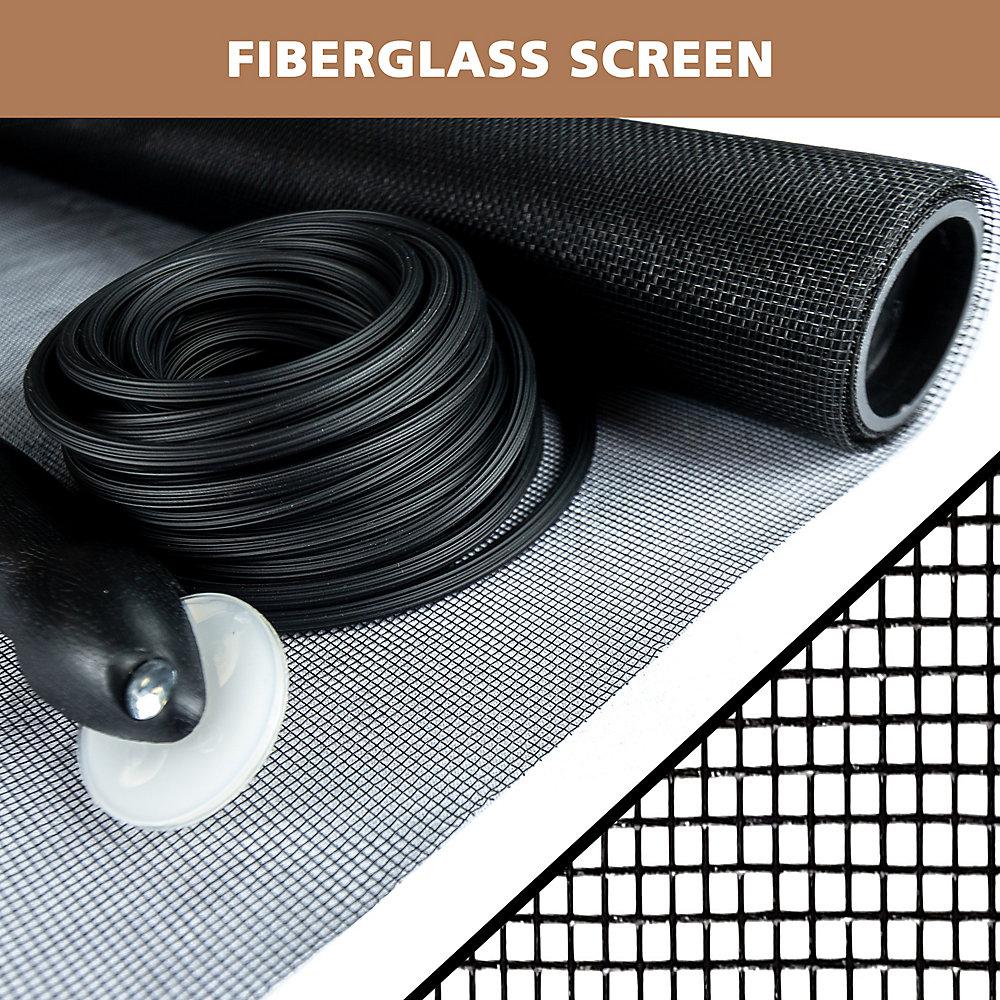 36-inch x 84-inch Black fiberglass Screen Repair Kit