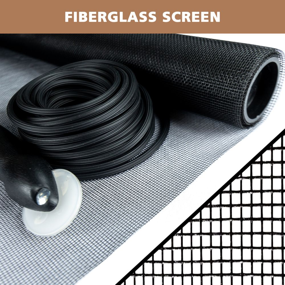Everbilt 36-inch x 84-inch Black fibreglass Screen Repair Kit