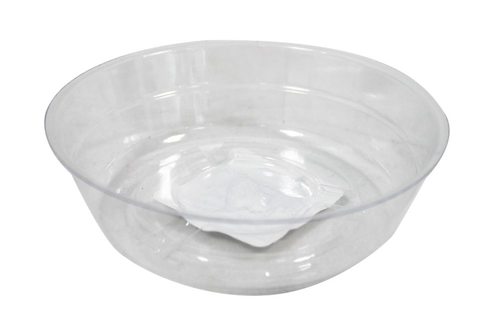 Blooms 4-inch Clear Vinyl Saucer for Potted Plants