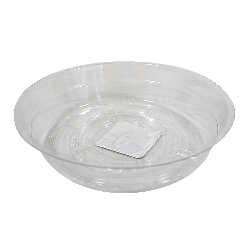 Blooms 6-inch Clear Vinyl Saucer for Potted Plants