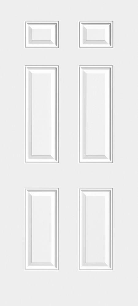Masonite 31 3/4-inch x 79-inch x 1 3/4-inch 6 Panel Steel Slab Door - ENERGY STAR®