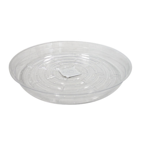 10-inch Clear Vinyl Saucer for Potted Plants