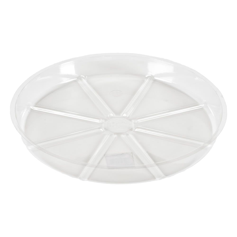 Blooms 14 inch  Clear Saucer