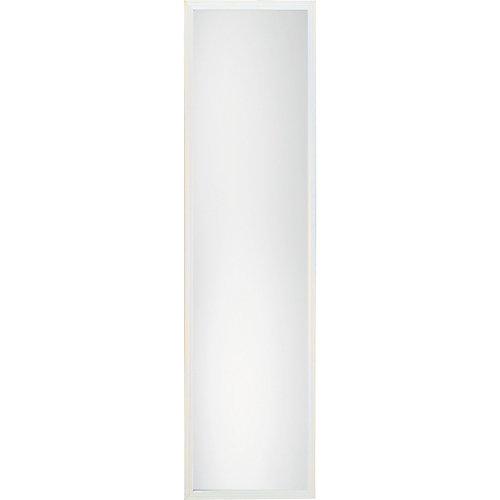 Miroir de porte avec cadre, 13po x 49po, blanc