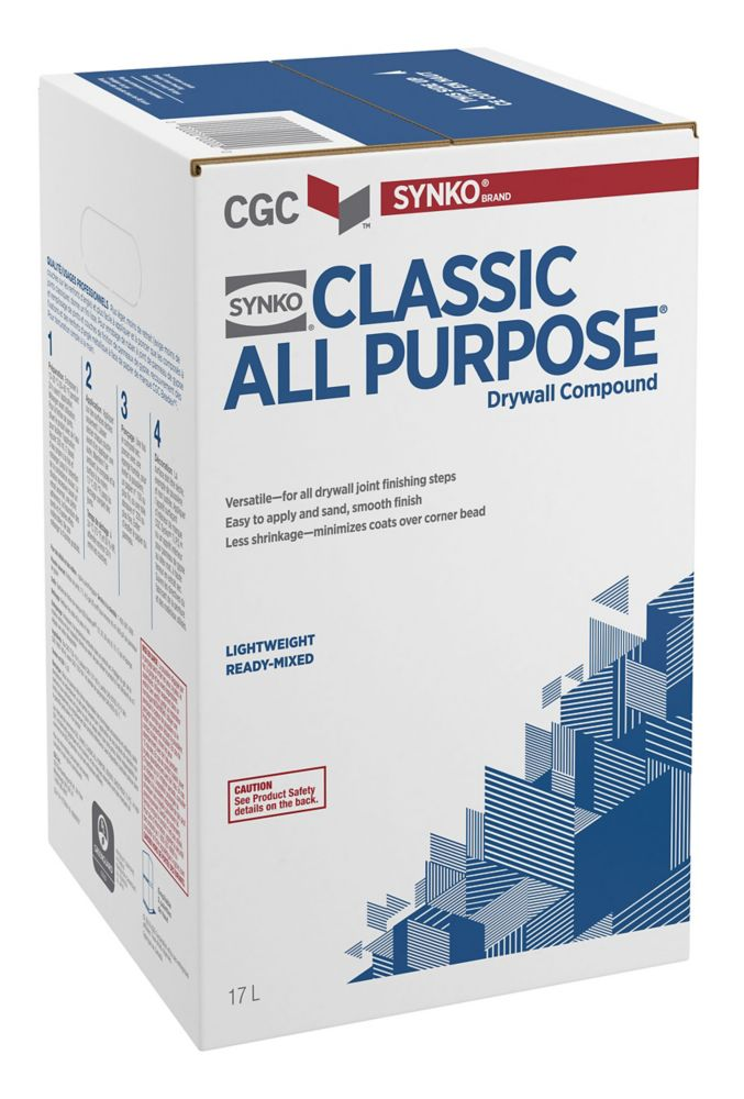 SYNKO Classic All-Purpose Drywall Compound, Ready Mixed, 17 L Carton
