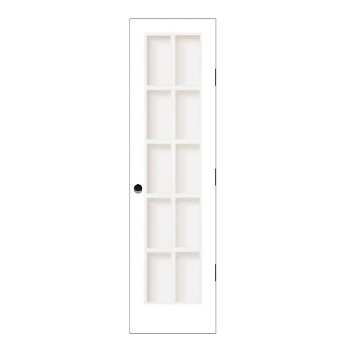Milette 24-inch x 80-inch Primed 10 Lite Interior Door with Clear Glass