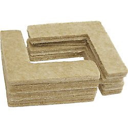 Everbilt 1-1/2 inch Heavy Duty Self-Adhesive Corner Felt Pads (8-Pack)