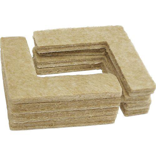 Everbilt 1-1/2 inch Heavy Duty Self-Adhesive Corner Felt Pads (8-Pack)