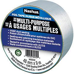 Nashua Tape Ruban métallique polyvalent322 pour systèmes de CVC, 1,89po x 10vg