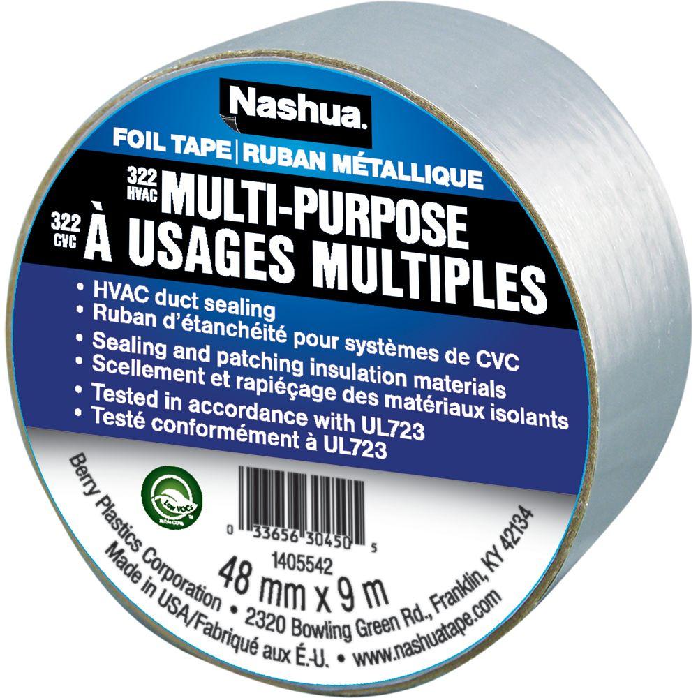 Nashua 322 Multi-Purpose Foil Tape, 1.89in x 10yd