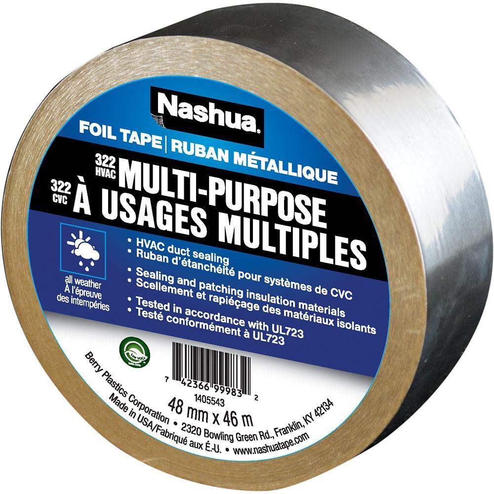 Nashua 322 Multi-Purpose Foil Tape, 1.89in x 50yd