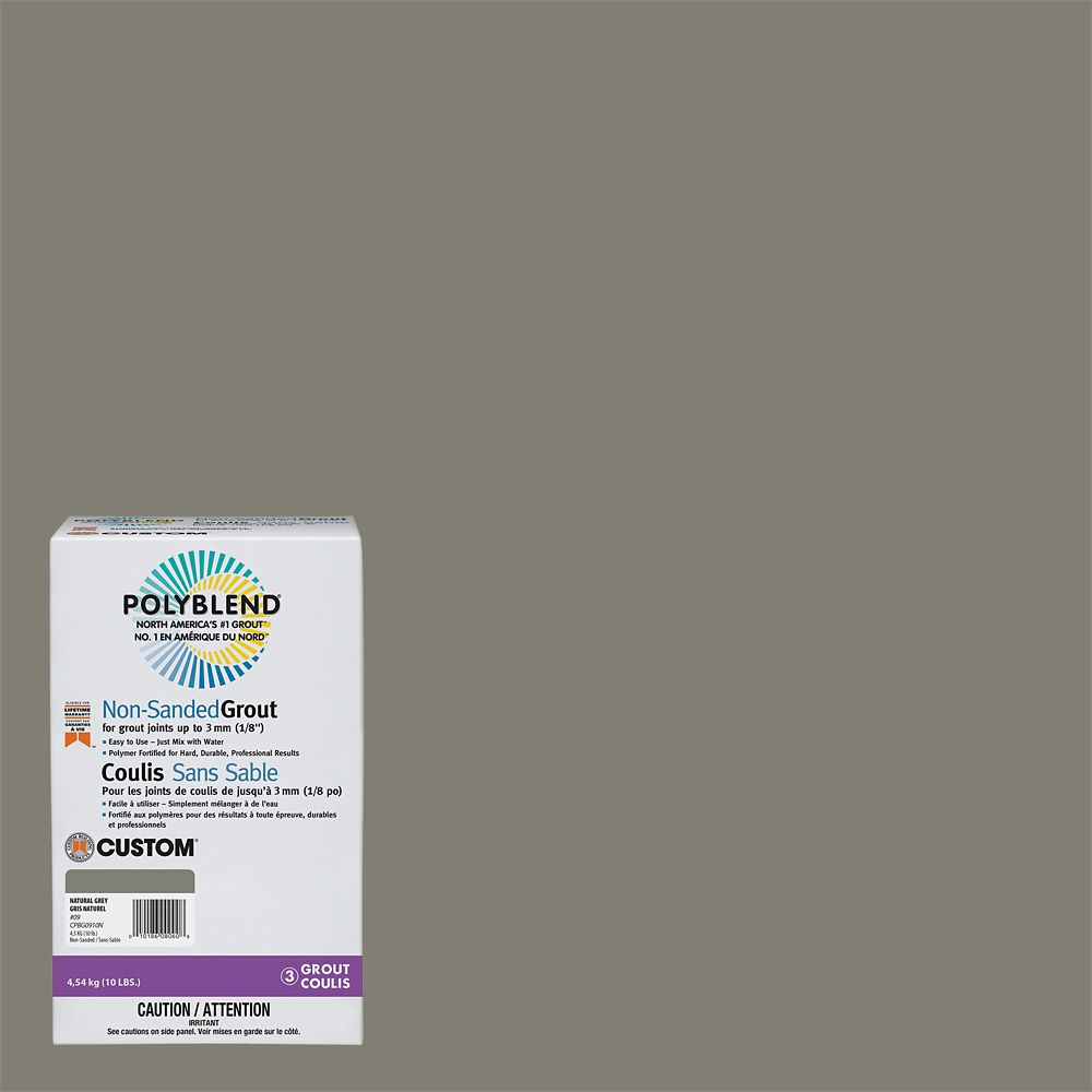 #9 Natural Gray - Polyblend Non-Sanded Grout - 10lb