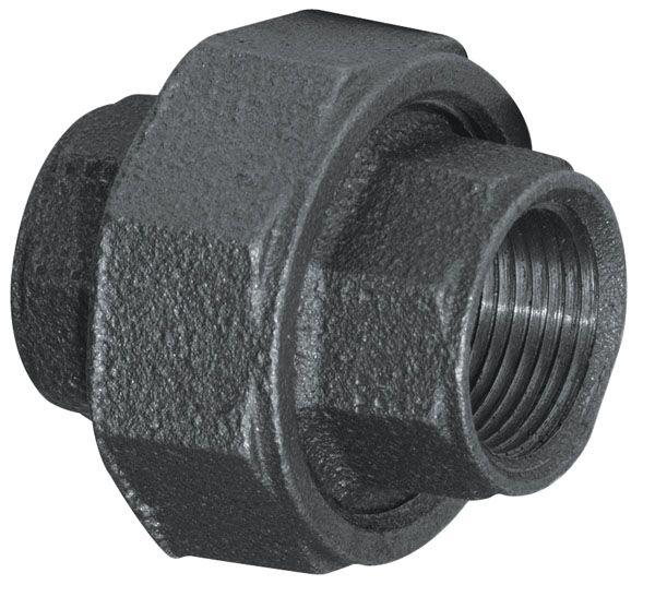 Aqua dynamic fitting black iron union inch the home