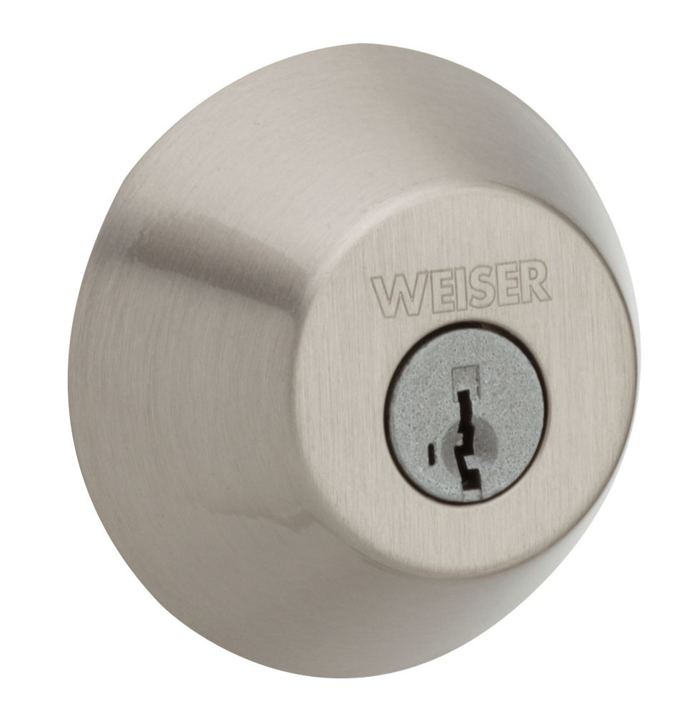 Welcome Home Satin Nickel Single Cylinder Deadbolt