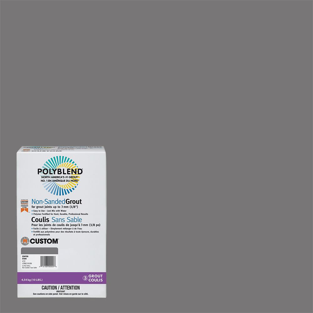 #19 Pewter - Polyblend Non-Sanded Grout - 10lb