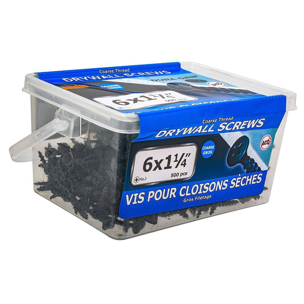 6 X 1 1/4 Coarse Thread Drwall Screw in 500