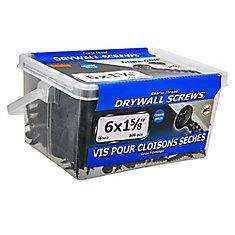 #6 x 1-5/8 po à tête plate Phillips Drive à filetage grossier Vis pour cloison sèche - 500 pièces