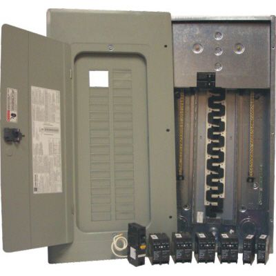 100A 30/60 Circuit Indoor Arc Fault Panel Package With 15A Arc Fault Breaker and Dnpl Breakers