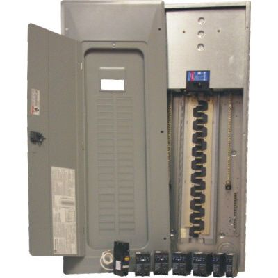 200A 40/80 Circuit Indoor Arc Fault Panel Package With 15A Arc Fault Breaker and Dnpl Breakers