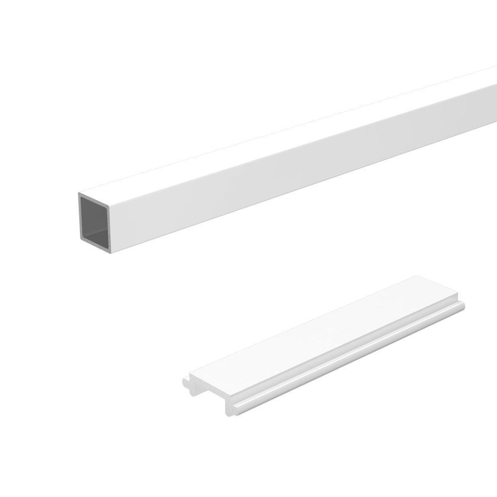 RailBlazers Standard Stair Picket & Spacer Kit, 6 Ft. - White