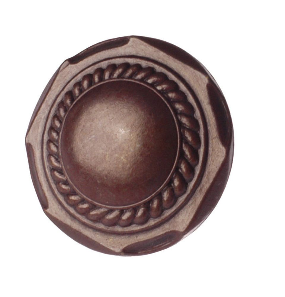 Transitional Metal Knob - Hammered Rust - 32 mm Dia.