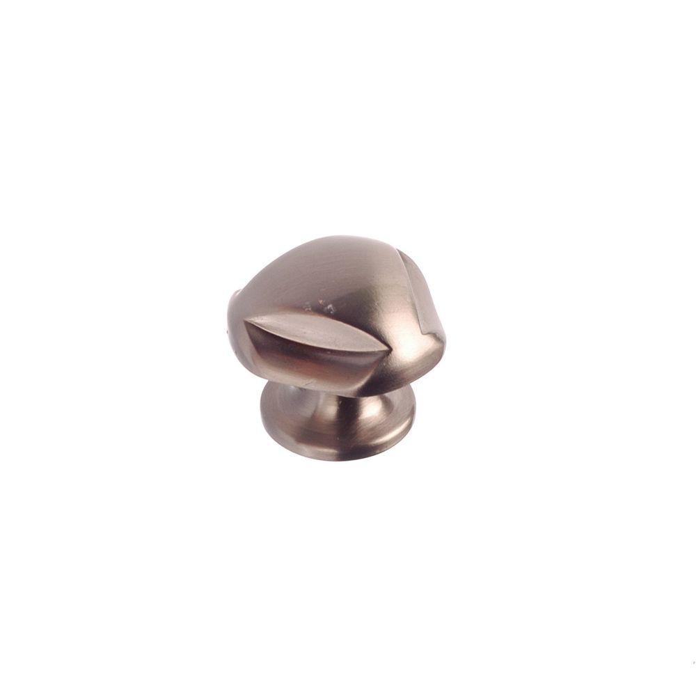 Classic Metal Knob - Brushed Nickel - 28 mm Dia.