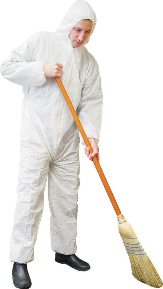 Disposable Coverall White With Hood