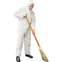 Workhorse Disposable Coverall White With Hood