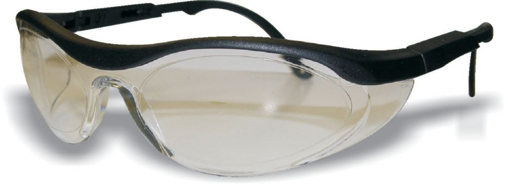 Wrap Around Safety Glass Silver Lens