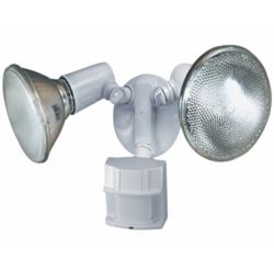 Heath Zenith 150 Degree PAR Motion Sensing Security Light - White