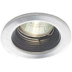 Eurofase Mini Luminaires cylindriques à encastrer, Bas Voltage, Blanc garniture et déflecteur noir
