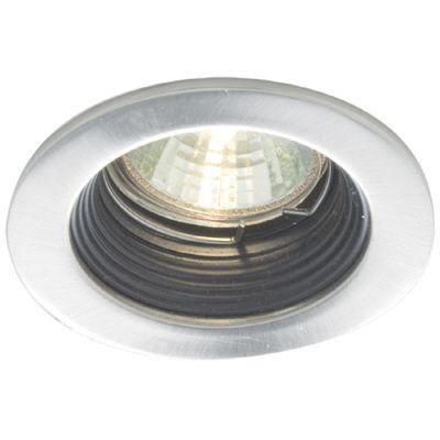 Mini Luminaires cylindriques à encastrer, Bas Voltage, Blanc garniture et déflecteur noir