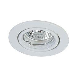 Eurofase Mini Luminaires cylindriques à encastrer, Bas Voltage, Blanc