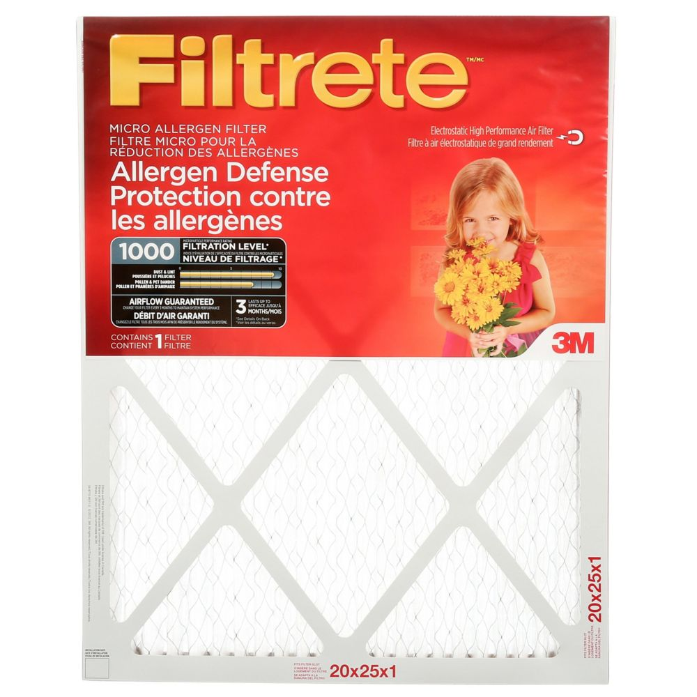 3M Filtrete 20x25 Micro Allergen Reduction Filter