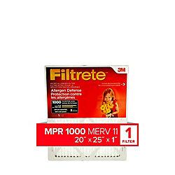 20-inch x 25-inch x 1-inch Allergen Defense MPR 1000 Micro Allergen Filtrete Furnace Filter