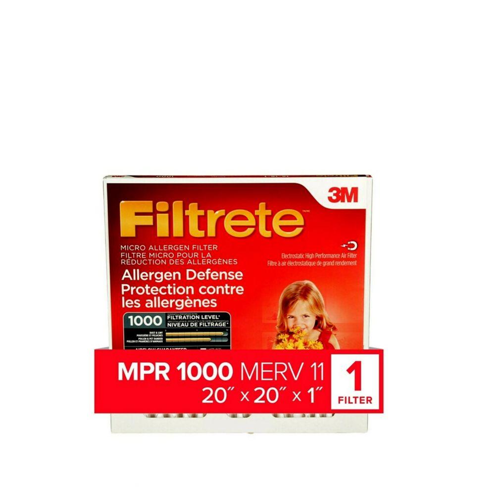 3M Filtrete 20x20 Filtre micro pour la réduction des allergènes
