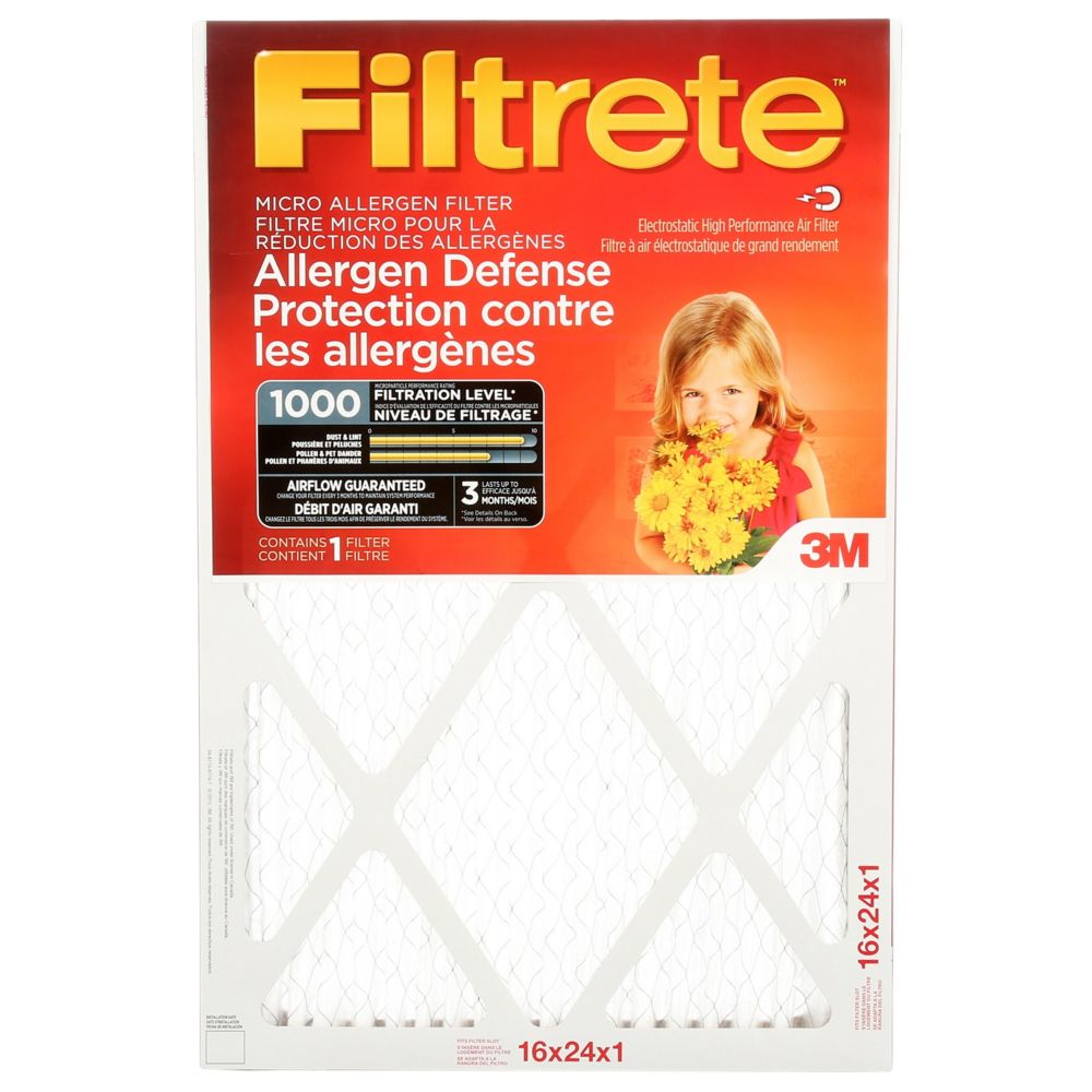 3M Filtrete 16x24 Micro Allergen Reduction Filter