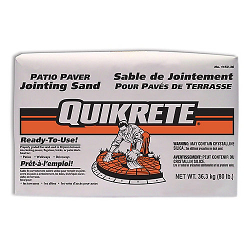 Quikrete Patio Paver Jointing Sand 36kg The Home Depot Canada