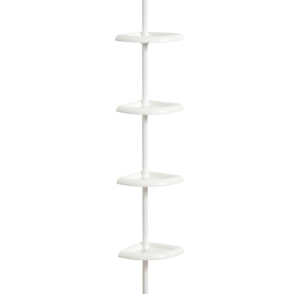 4 Shelf Pole Caddy -White