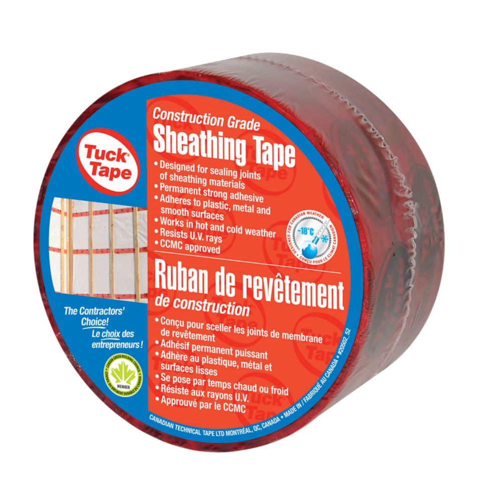 Red Sheathing Housewrap Tape 60 Millimetres Wide And 50 Metres Long