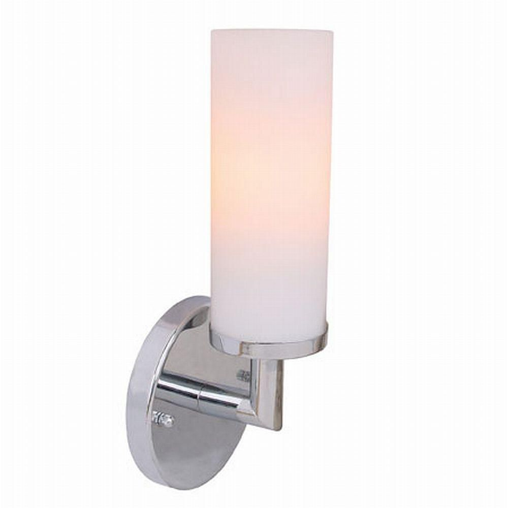 sydney collection 1 light chrome wall sconce the home depot canada. Black Bedroom Furniture Sets. Home Design Ideas