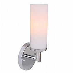 Eurofase Sydney Collection 1 Light Chrome Wall Sconce