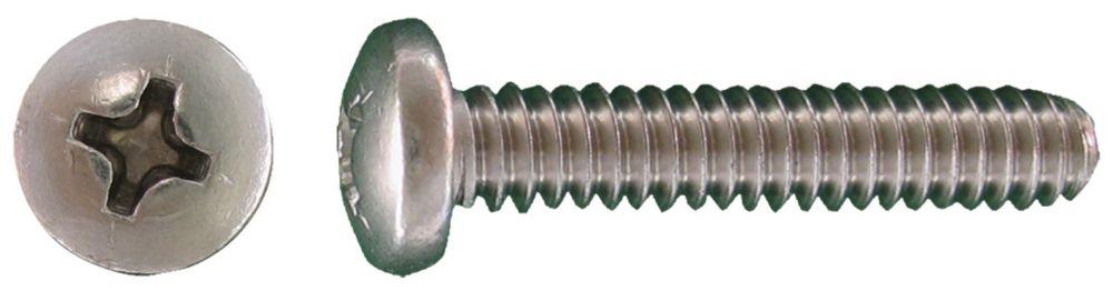 1/4-20x3/4 vis de mecanique depouille phil. Inox.